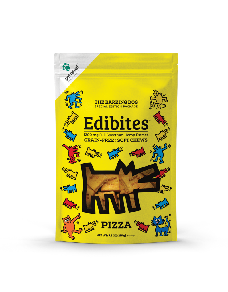 Pet Releaf Edibites Soft Chews Pizza Dog Supplement, 1200mg, 7.5-oz