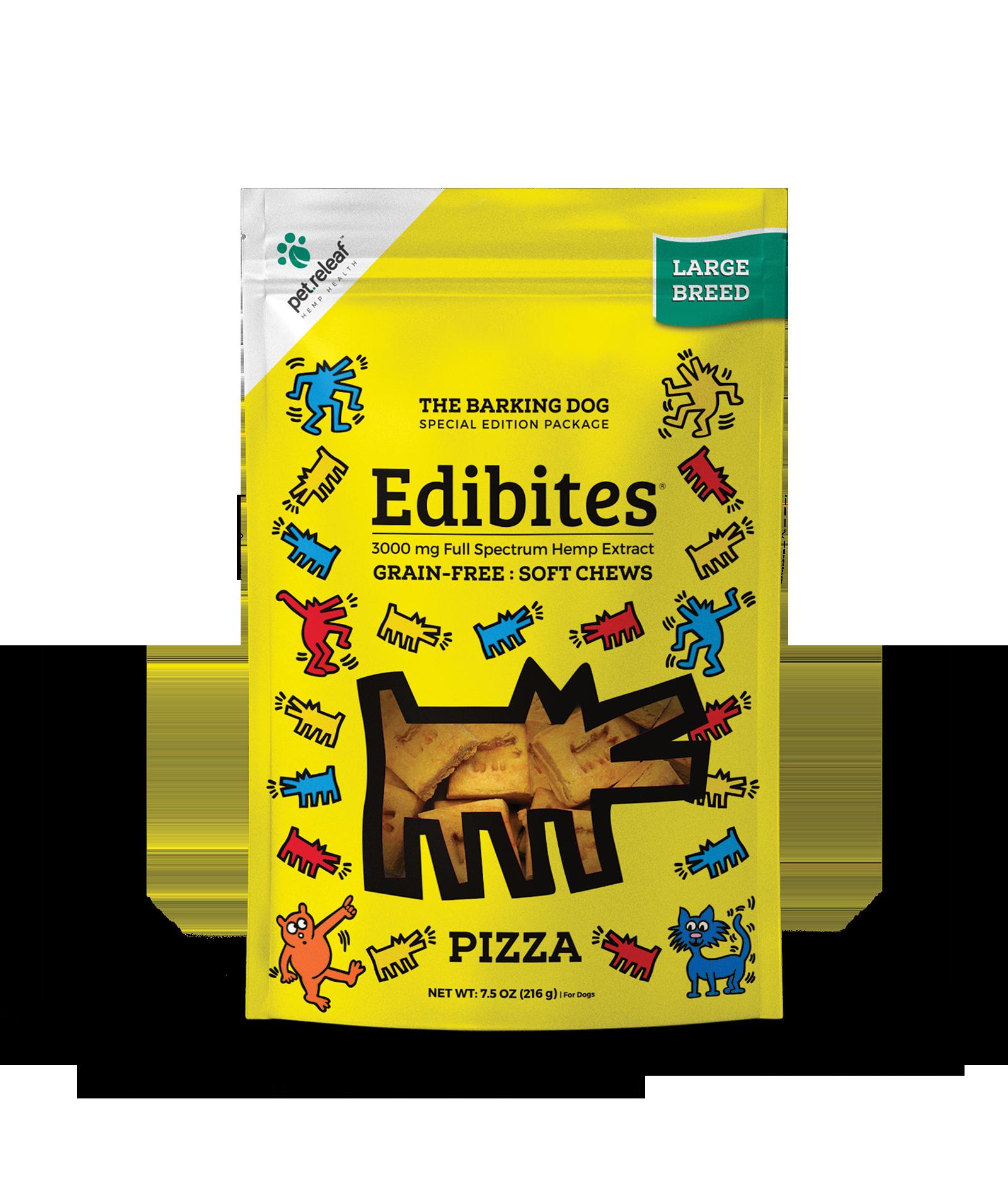 Pet Releaf Edibites Soft Chews Pizza Large Breed Dog Supplement, 3000mg, 7.5-oz