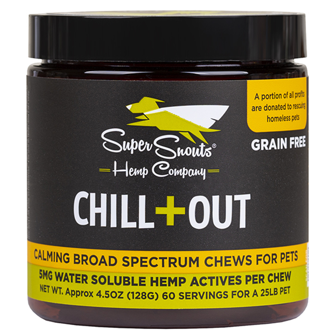 Super Snouts CHILL+OUT Calming BS Soft Chews Pet Supplement, 30-count