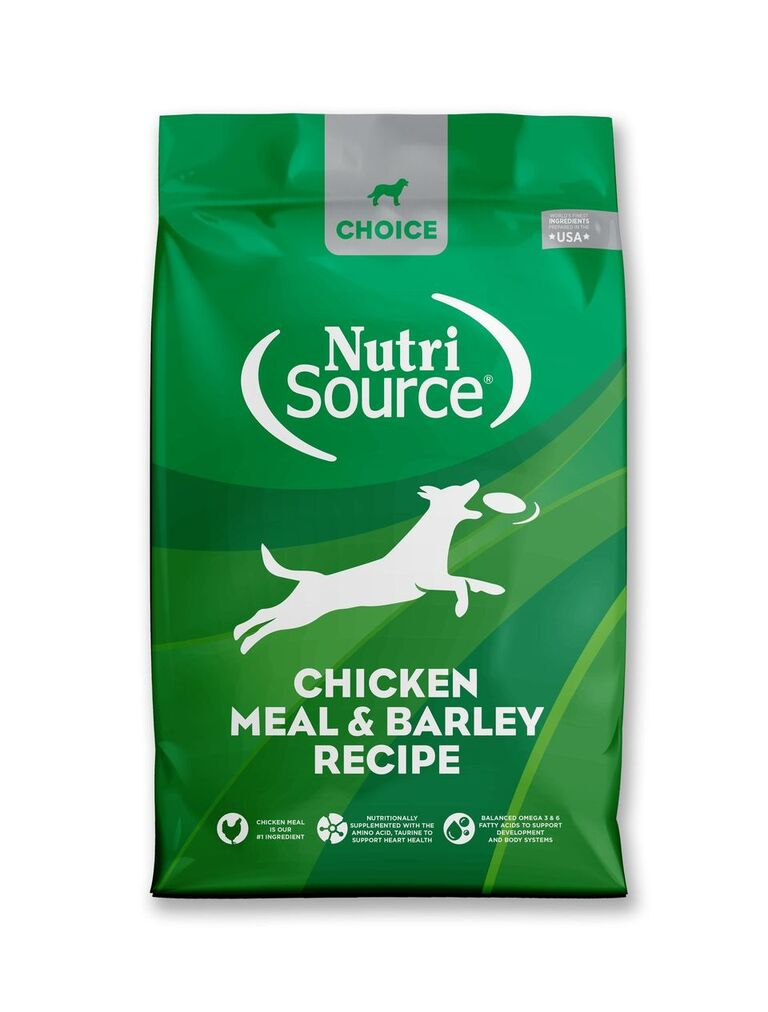 NutriSource Choice Chicken Meal & Barley Recipe Dry Dog Food, 30-lb Size: 30-lb