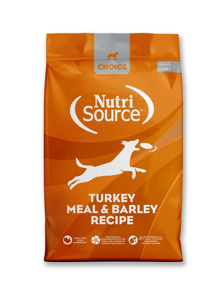 NutriSource Choice Turkey Meal & Barley Recipe Dry Dog Food, 5-lb
