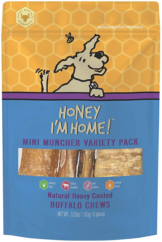Honey I'm Home Mini Muncher Variety Pack Dog Treats, 6-count