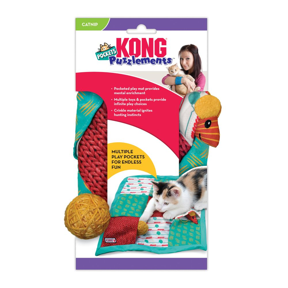 KONG Puzzlements Pockets Cat Toy