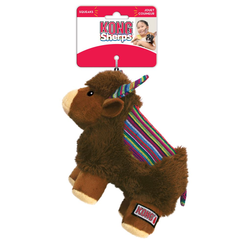 KONG Sherps Yak Dog Toy, Medium