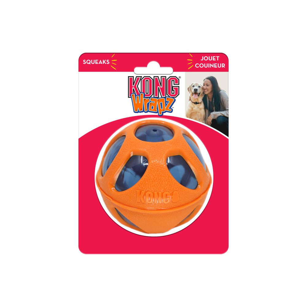 KONG Wrapz Ball Dog Toy Image