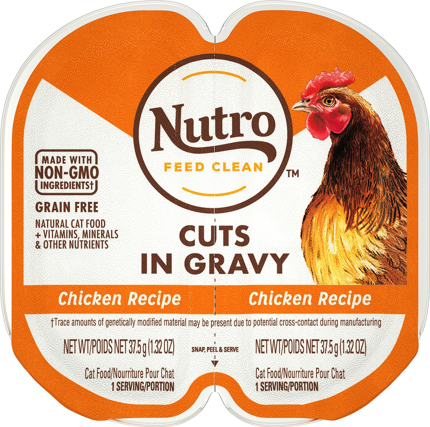 Nutro Perfect Portions Grain-Free Cuts in Gravy Chicken Recipe Cat Food Trays Image
