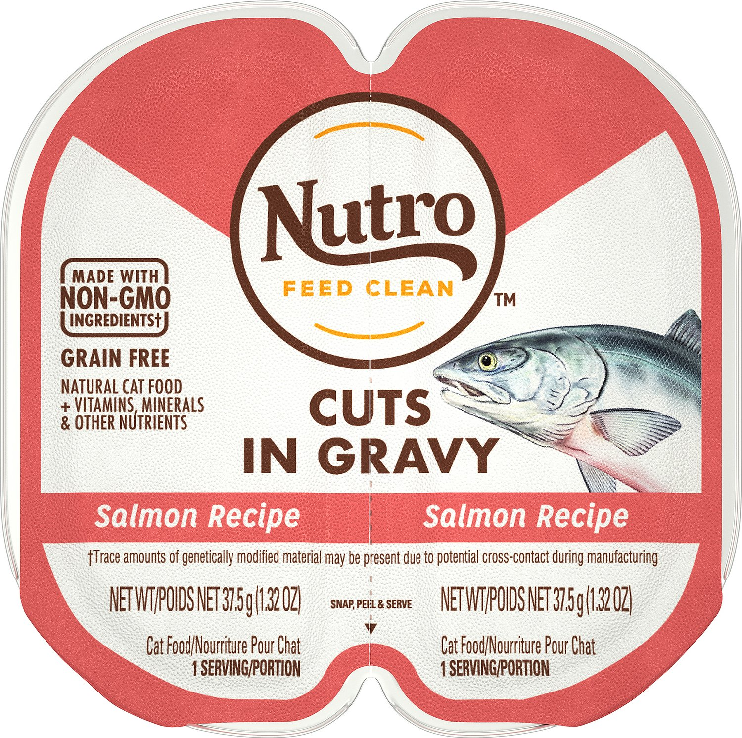 Nutro Perfect Portions Grain-Free Cuts in Gravy Salmon Recipe Cat Food Trays Image