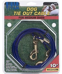 Coastal Titan Cable Dog Tie-Out, Medium