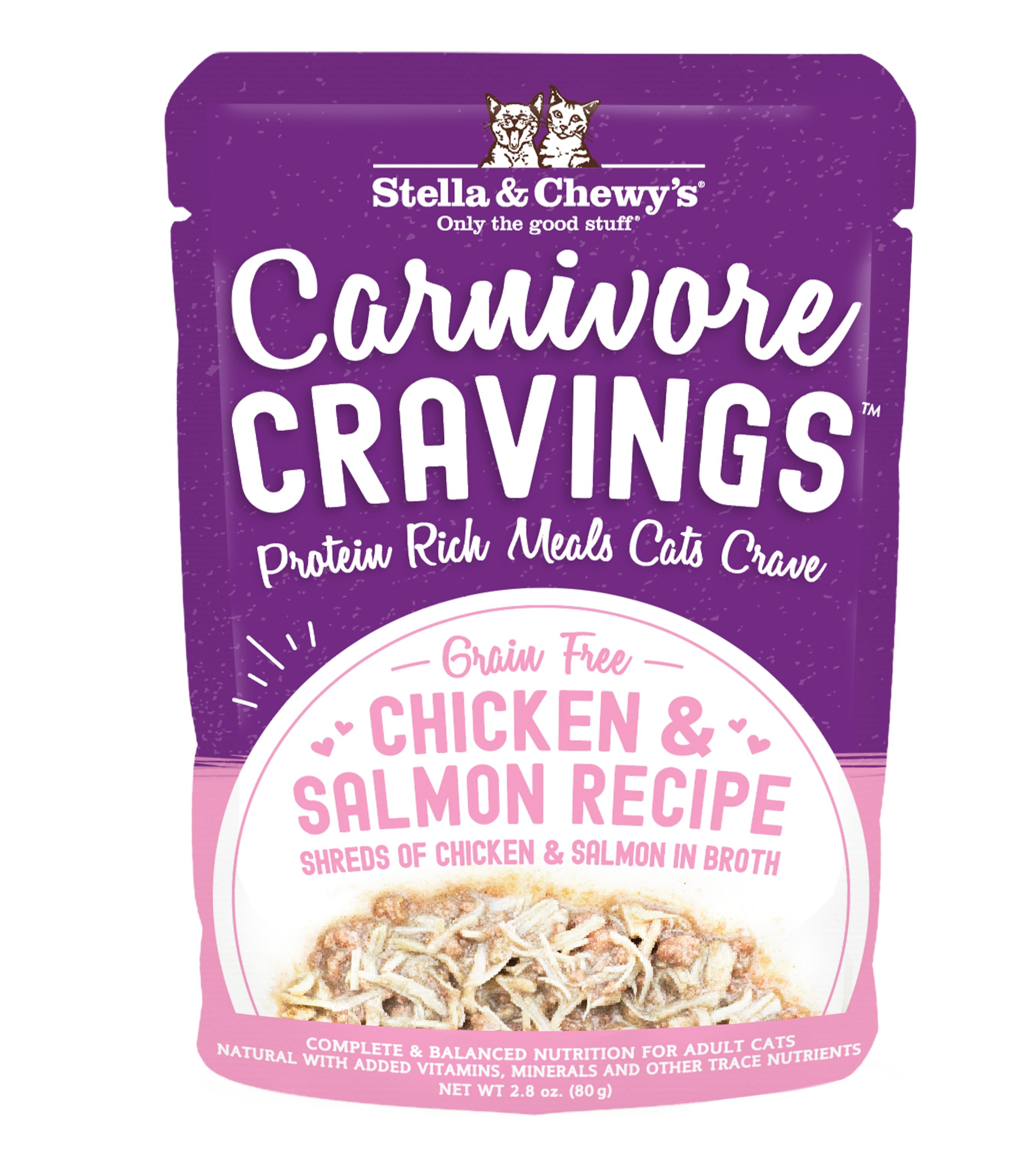 Stella & Chewy's Carnivore Cravings Chicken & Salmon Wet Cat Food, 2.8-oz pouch