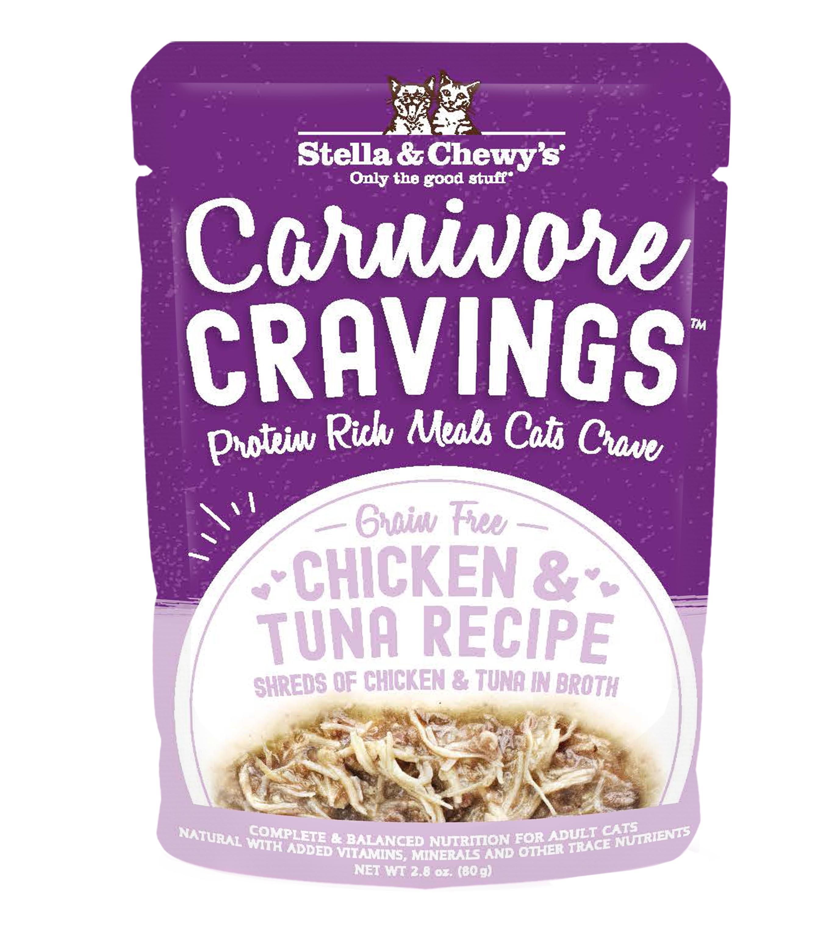 Stella & Chewy's Carnivore Cravings Chicken & Tuna Wet Cat Food, 2.8-oz pouch