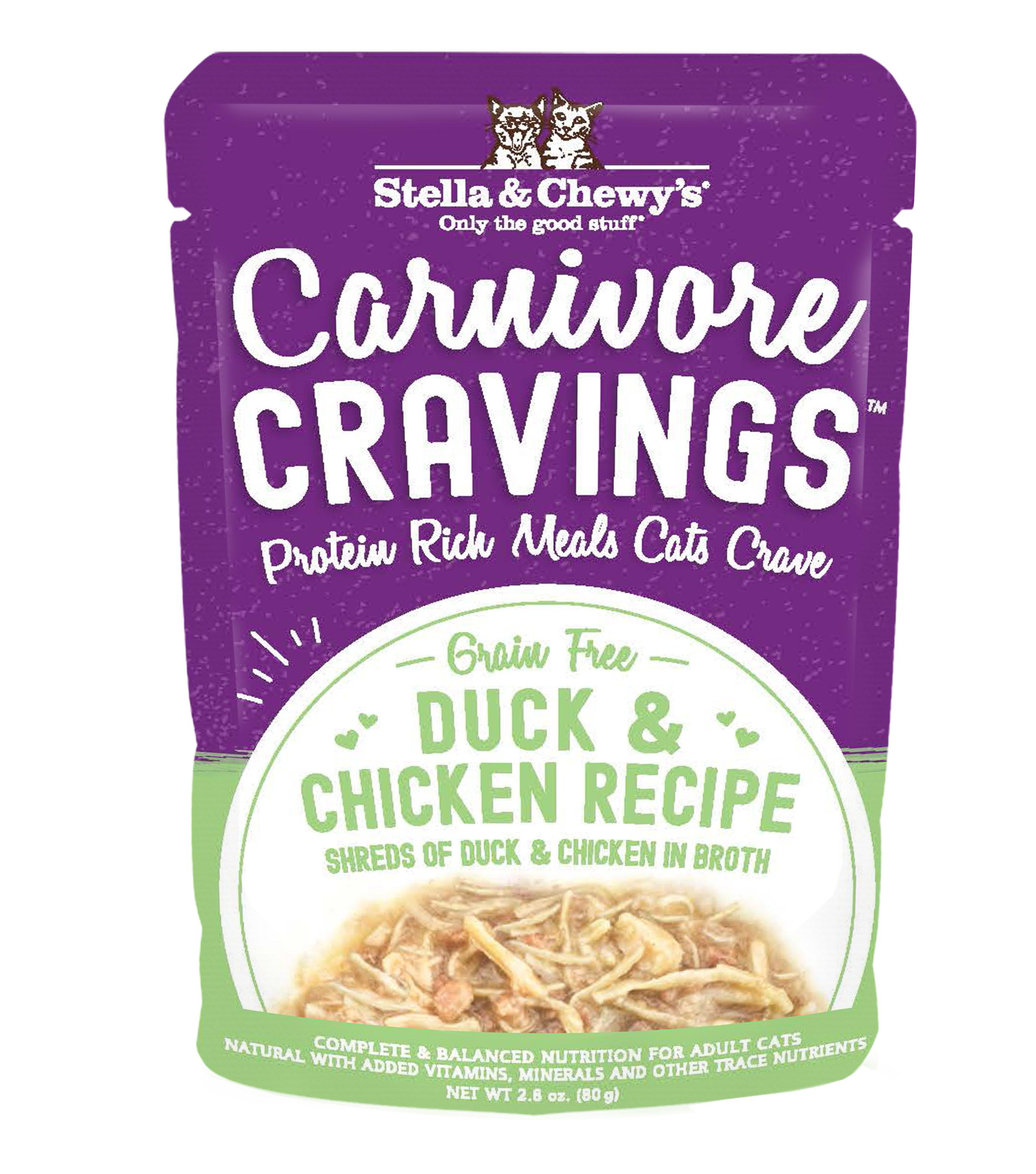 Stella & Chewy's Carnivore Cravings Duck & Chicken Wet Cat Food, 2.8-oz pouch