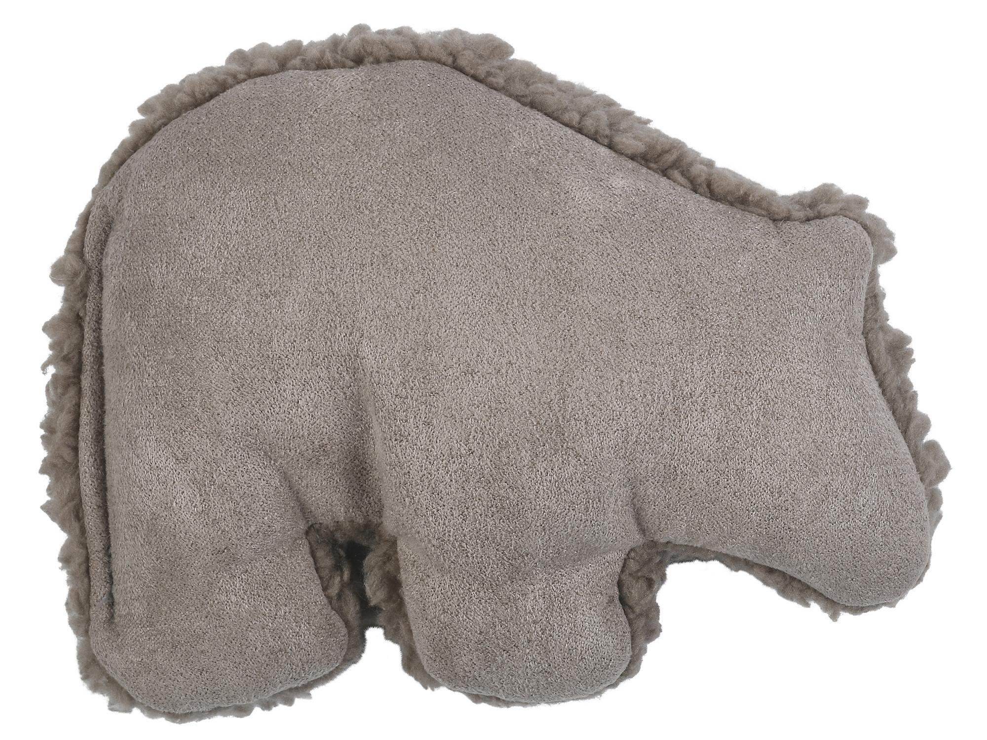 West Paw Big Sky Grizzly Bear Toy Dog Plush Toy, Oat, Small