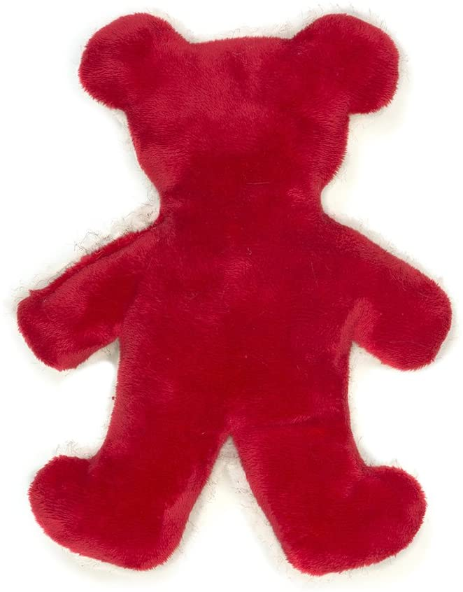 West Paw Holiday Bear Red Plush Dog Toy, Large