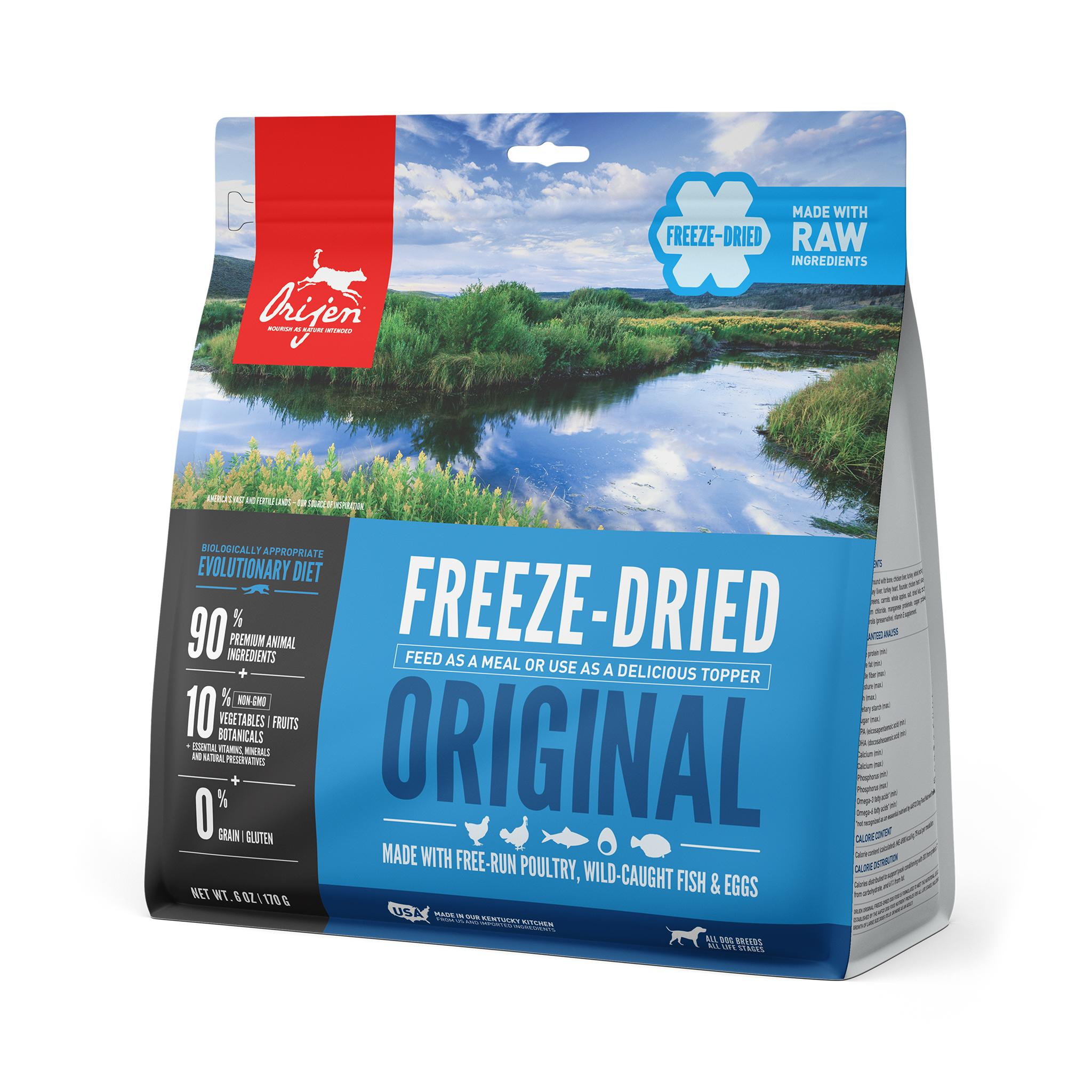 ORIJEN Original Grain-Free Freeze-Dried Dog Food, 6-oz