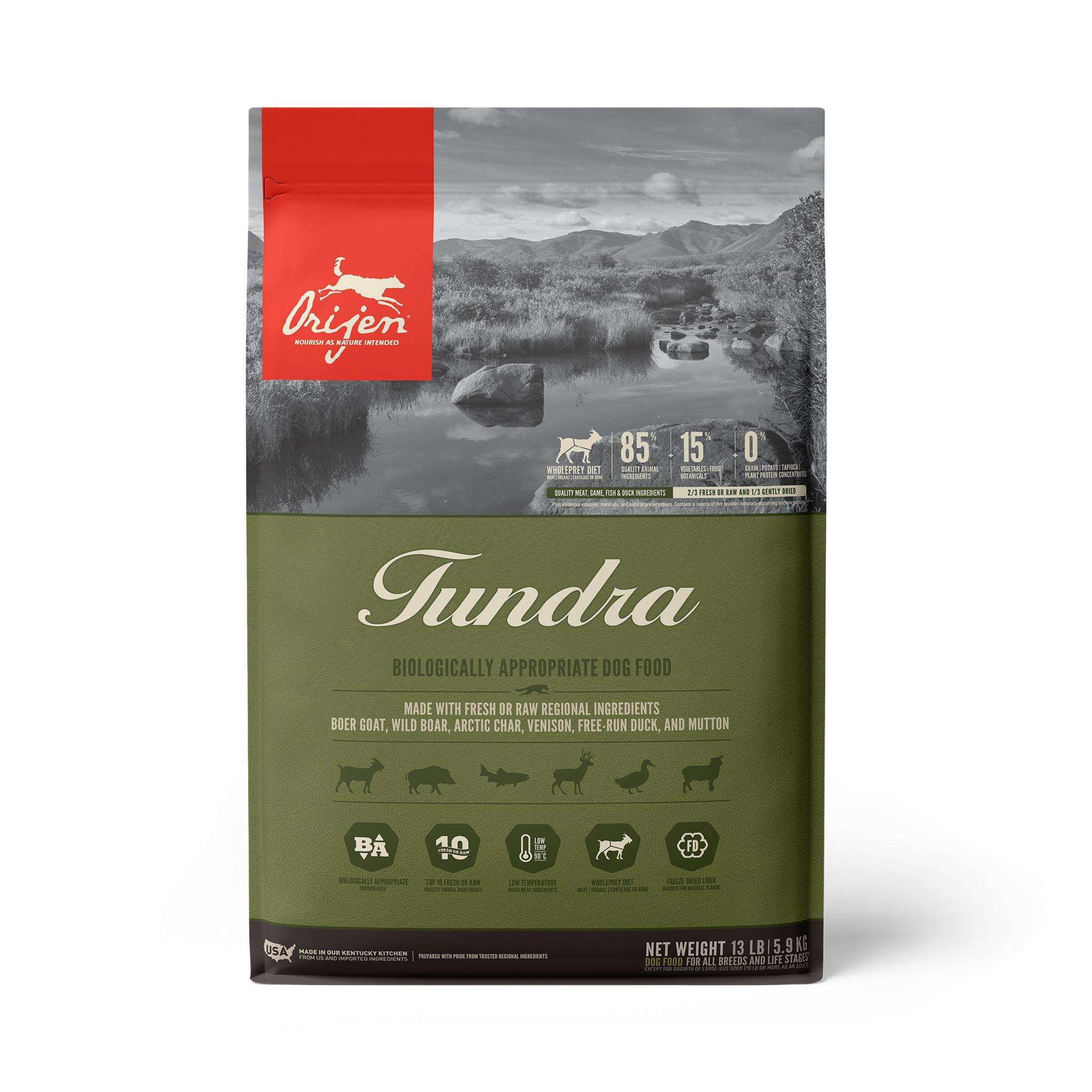 ORIJEN Tundra Grain-Free Dry Dog Food, 13-lb