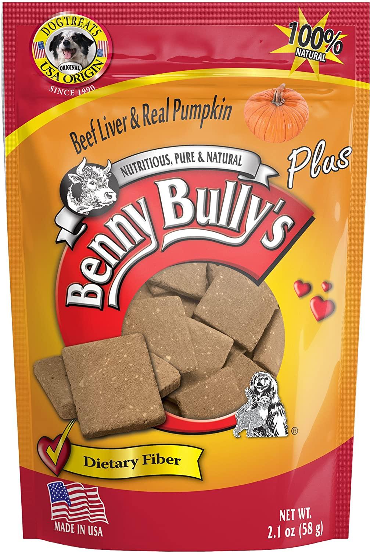 Benny Bully's Liver Plus Beef Liver & Real Pumpkin Freeze-Dried Dog Treats, 2.1-oz