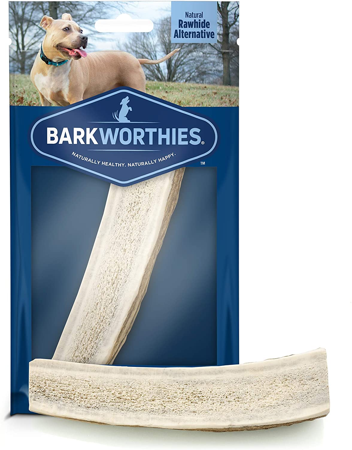 Barkworthies Split Elk Antler Puppy & Small Dog Treats Image