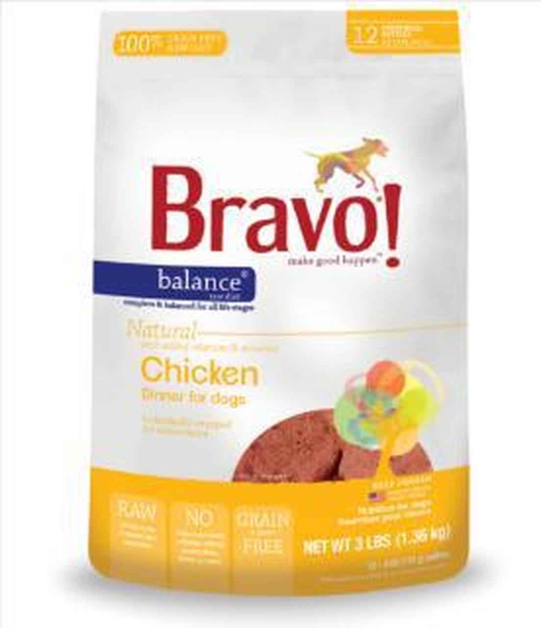 Bravo Balance Chicken Patties Raw Frozen Dog Food Image