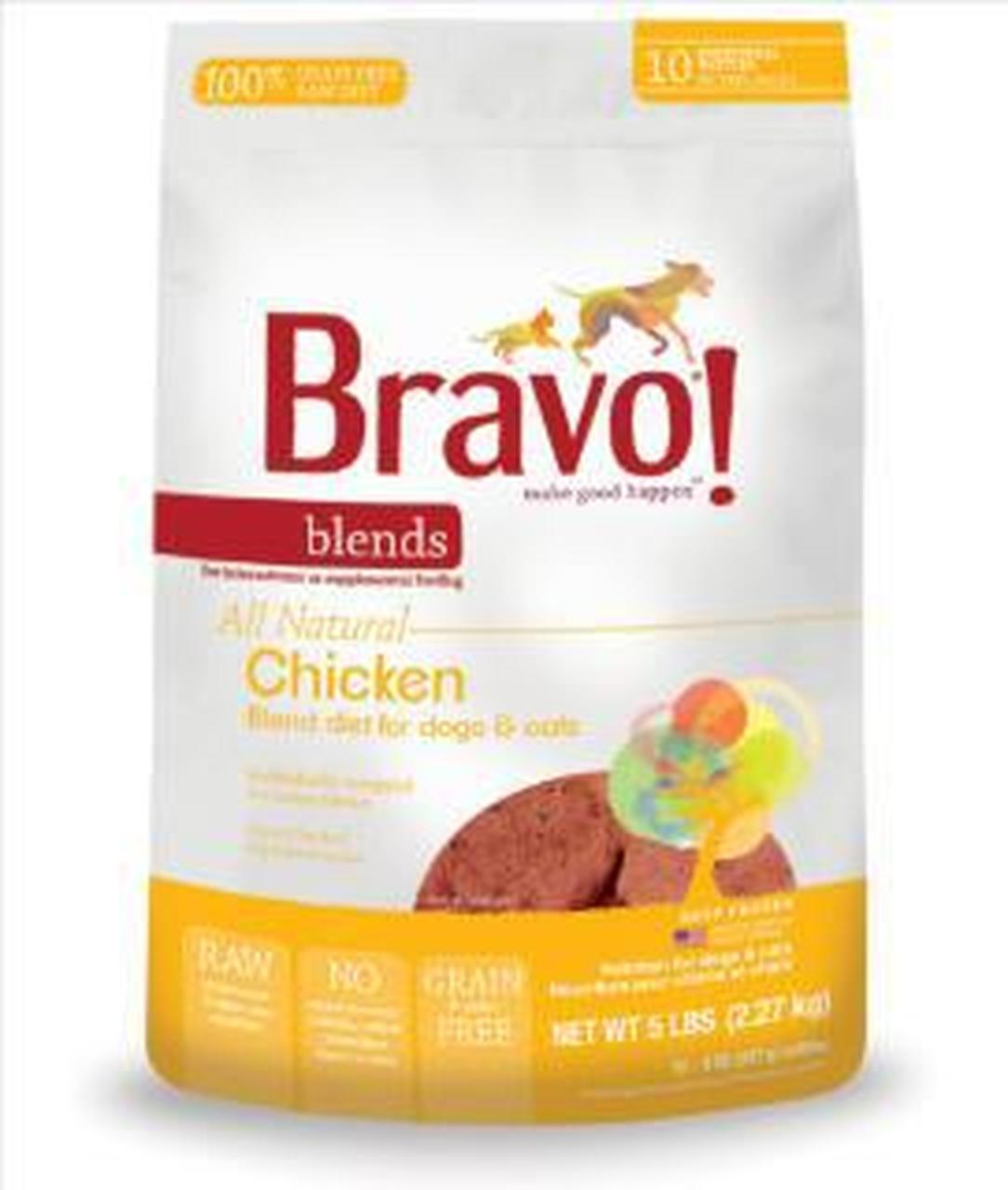 Bravo Blends Chicken Patties Raw Frozen Dog Food, 5-lb Size: 5-lb