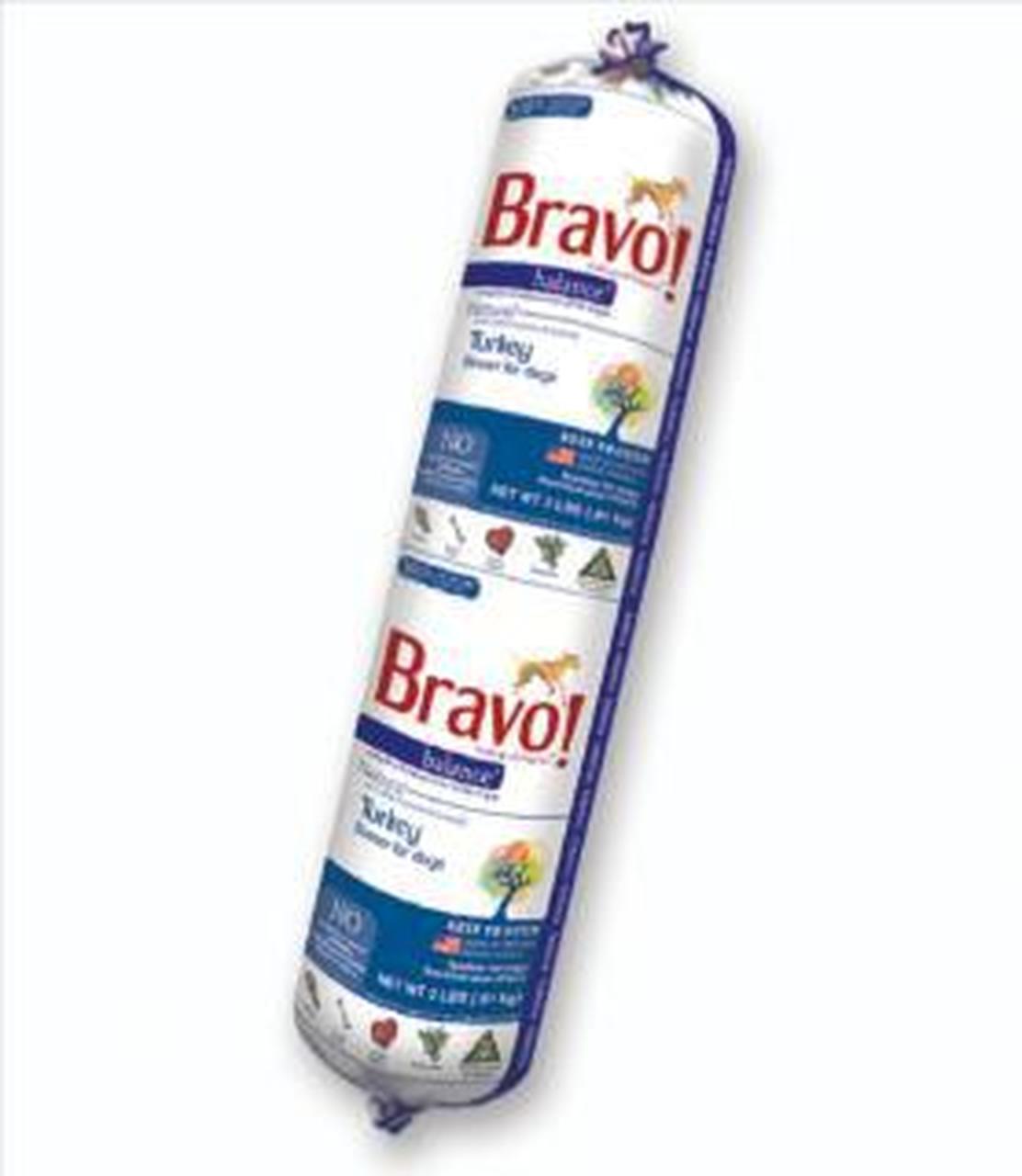 Bravo Blends Turkey Chub Roll Raw Frozen Dog Food, 2-lb