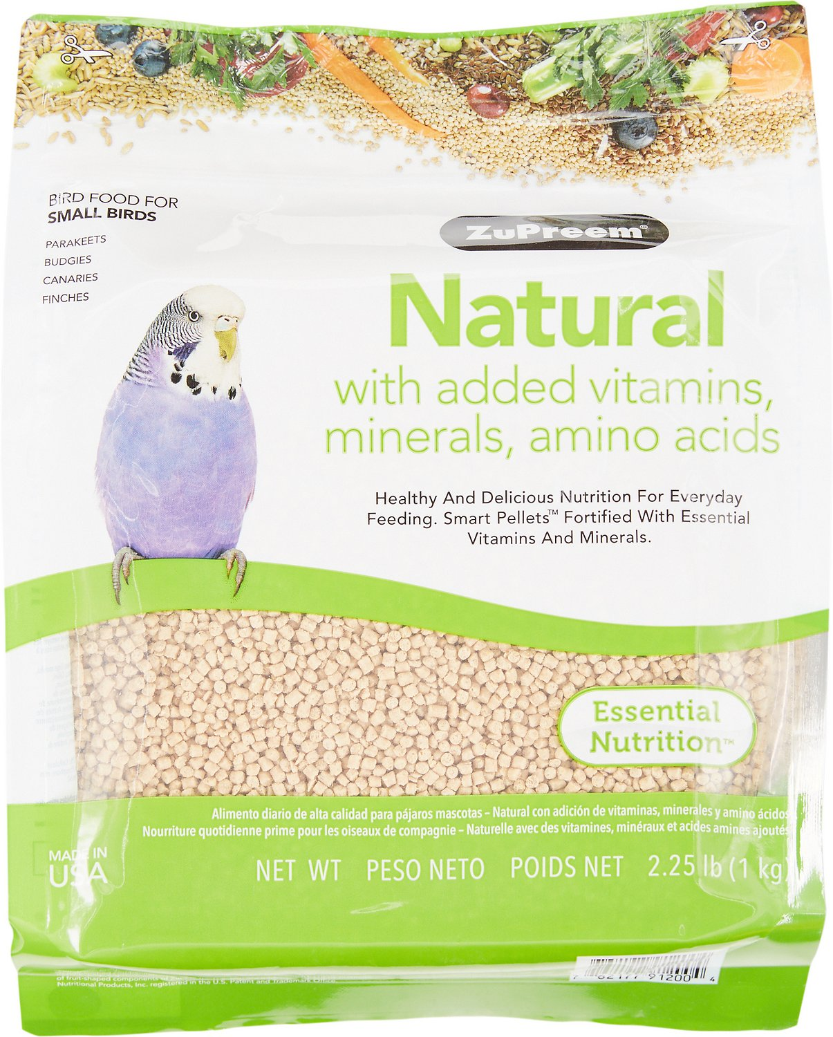 ZuPreem Natural with Vitamins & Minerals Small Bird Food, 2.25-lb bag Image