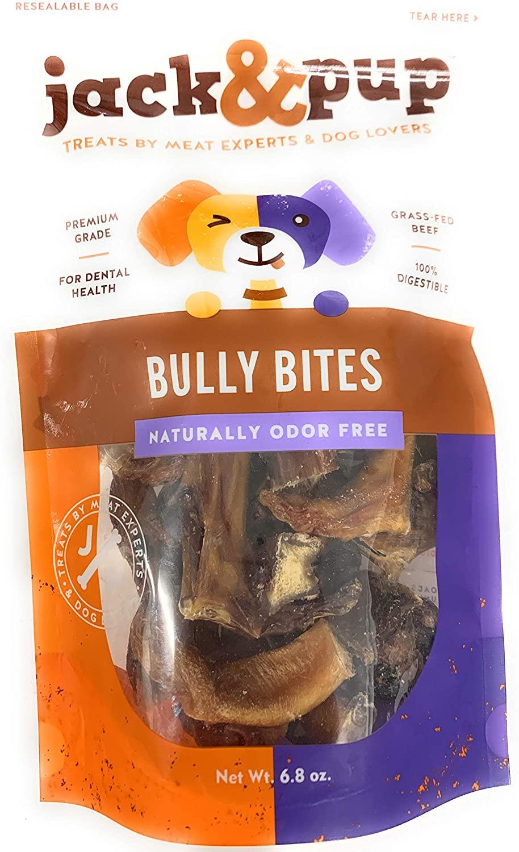 Jack&Pup Bully Bites Dog Treats, 6.8-oz