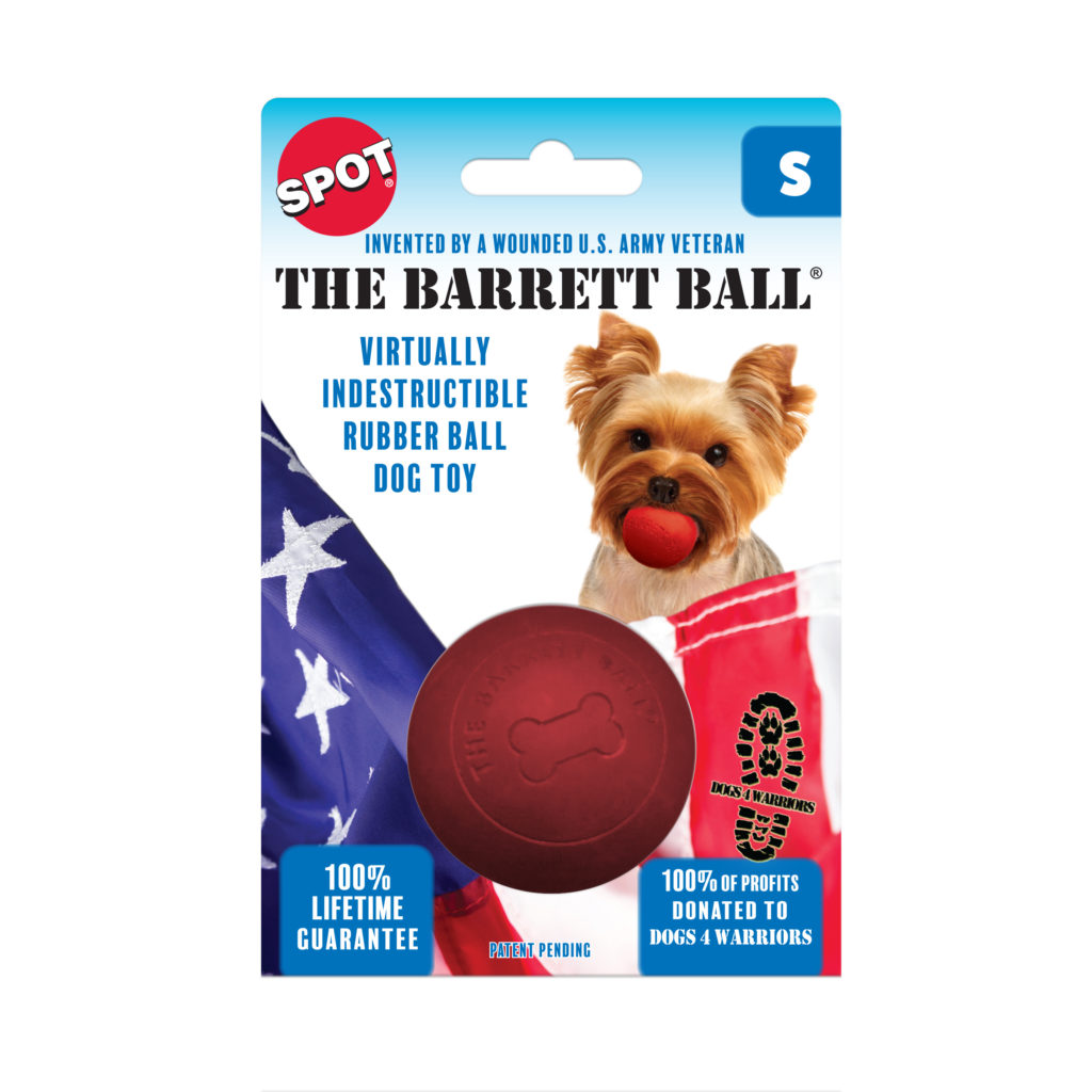 Ethical Pet Spot The Barret Ball Dog Toy, 2.5-in