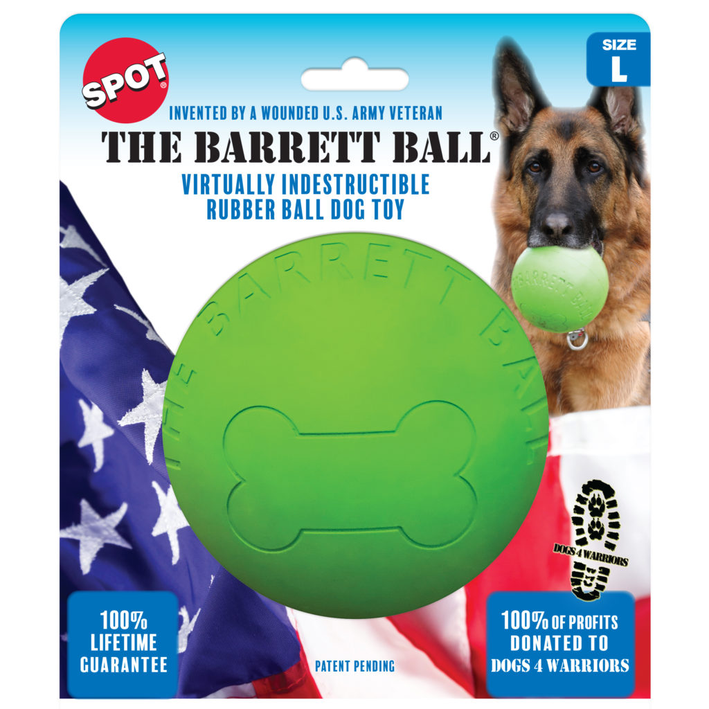 Ethical Pet Spot The Barret Ball Dog Toy, 5-in