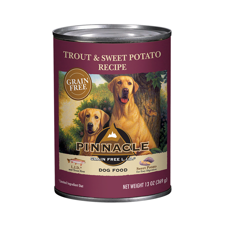Pinnacle Trout & Sweet Potato Recipe Grain-Free Wet Dog Food, 1-pk