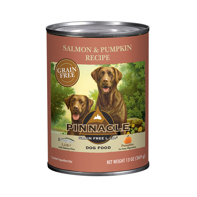 Pinnacle Salmon & Pumpkin Recipe Grain-Free Wet Dog Food, 13-oz