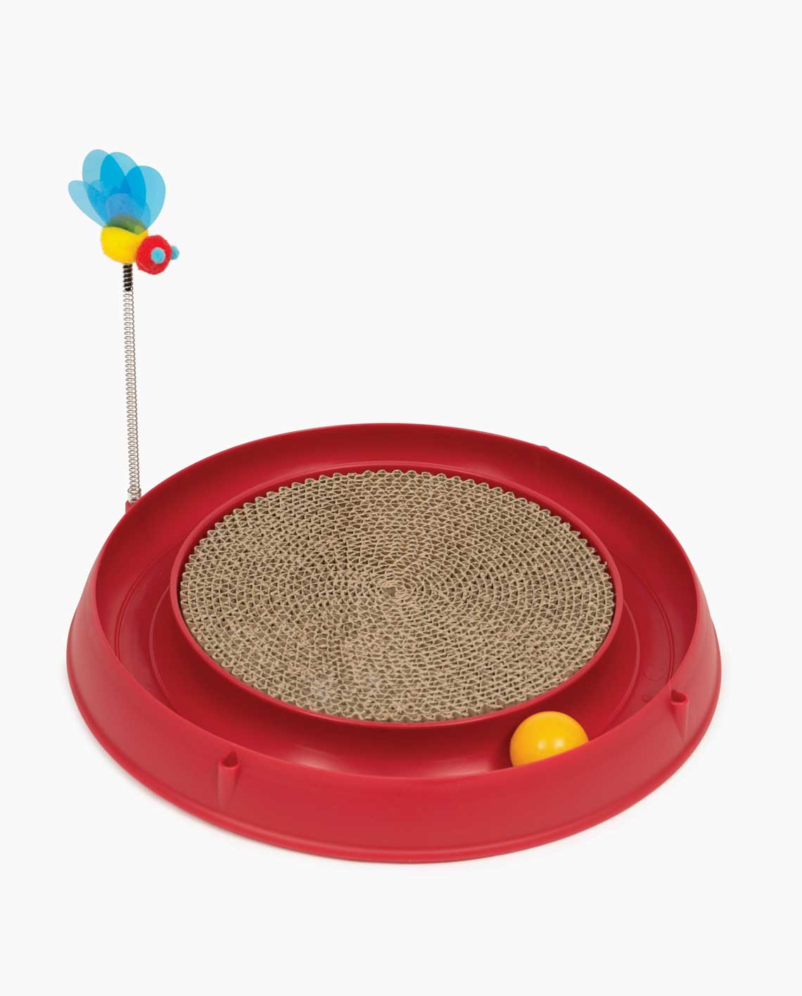 Catit Circuit Ball with Scratch Pad Cat Toy