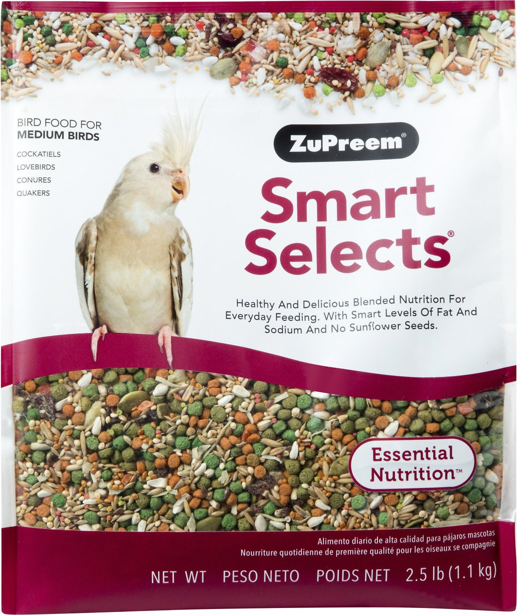 ZuPreem Smart Selects Cockatiel & Lovebird Bird Food, 2.5-lb bag Image