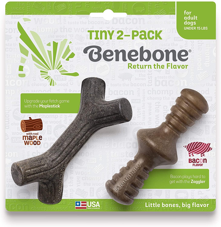 Benebone Maplestick & Zaggler Dog Toy, 2-pk