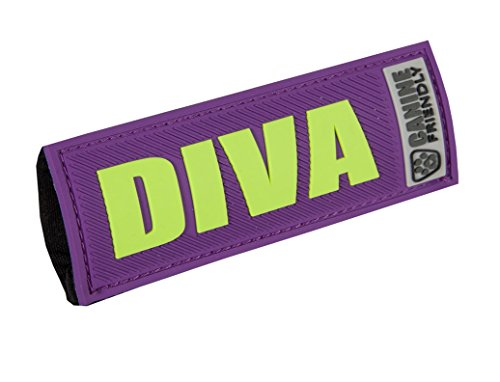 RC Pet Products Bark Notes Dog Collar Patch, Diva, 3/4-in