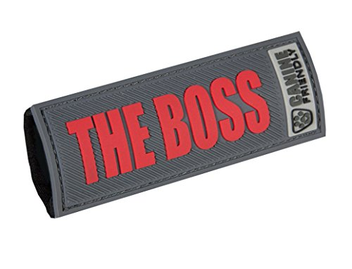 RC Pet Products Bark Notes Dog Collar Patch, The Boss, 3/4-in
