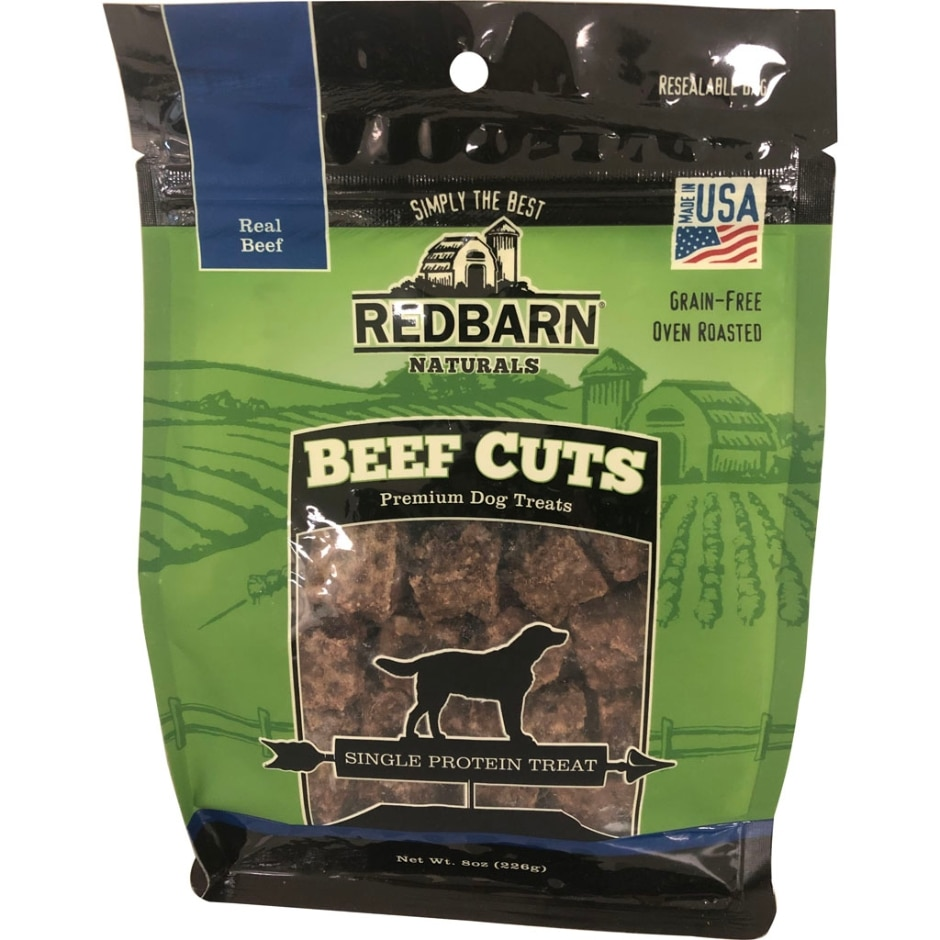 REDBARN PET PRODUCTS Beef Cuts Freeze-Dried Dog Treats, 8-oz bag