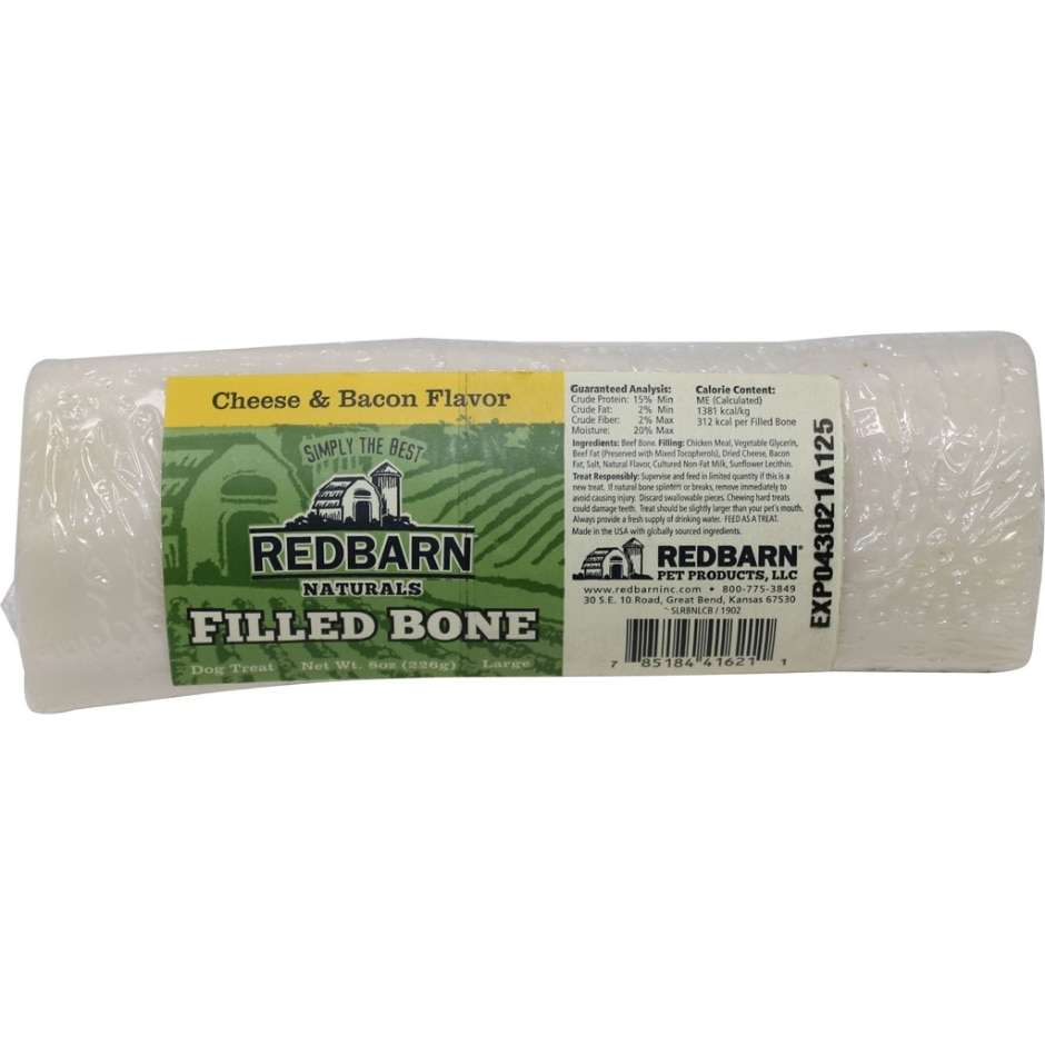 REDBARN PET PRODUCTS Filled Bone Dog Treats, Cheese & Bacon Flavor Image