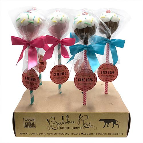 Bubba Rose Biscuit Co. Sundae Cake Pops Dog Treats, 1-count