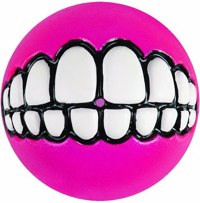 Rogz Grinz Treat Ball Dog Toy, Color Varies, Large