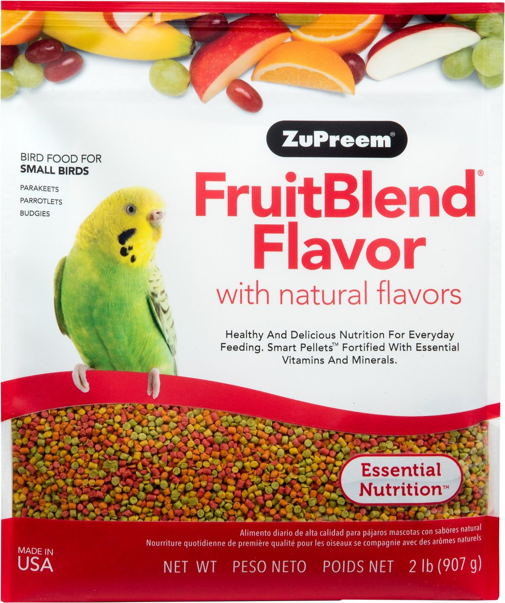 ZuPreem FruitBlend with Natural Fruit Flavors Small Bird Food Image