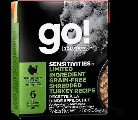 Go! Sensitivities Limited Ingredient Grain-Free Shredded Turkey Wet Dog Food, 12.5-oz