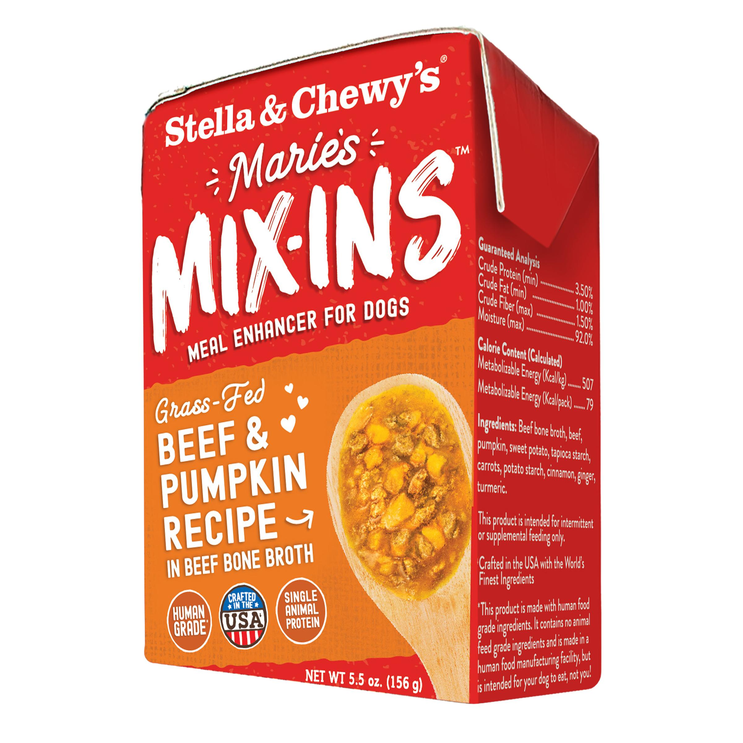 Stella & Chewy's Marie's Mix-Ins Beef & Pumpkin Recipe Meal Enhancer for Dogs Image