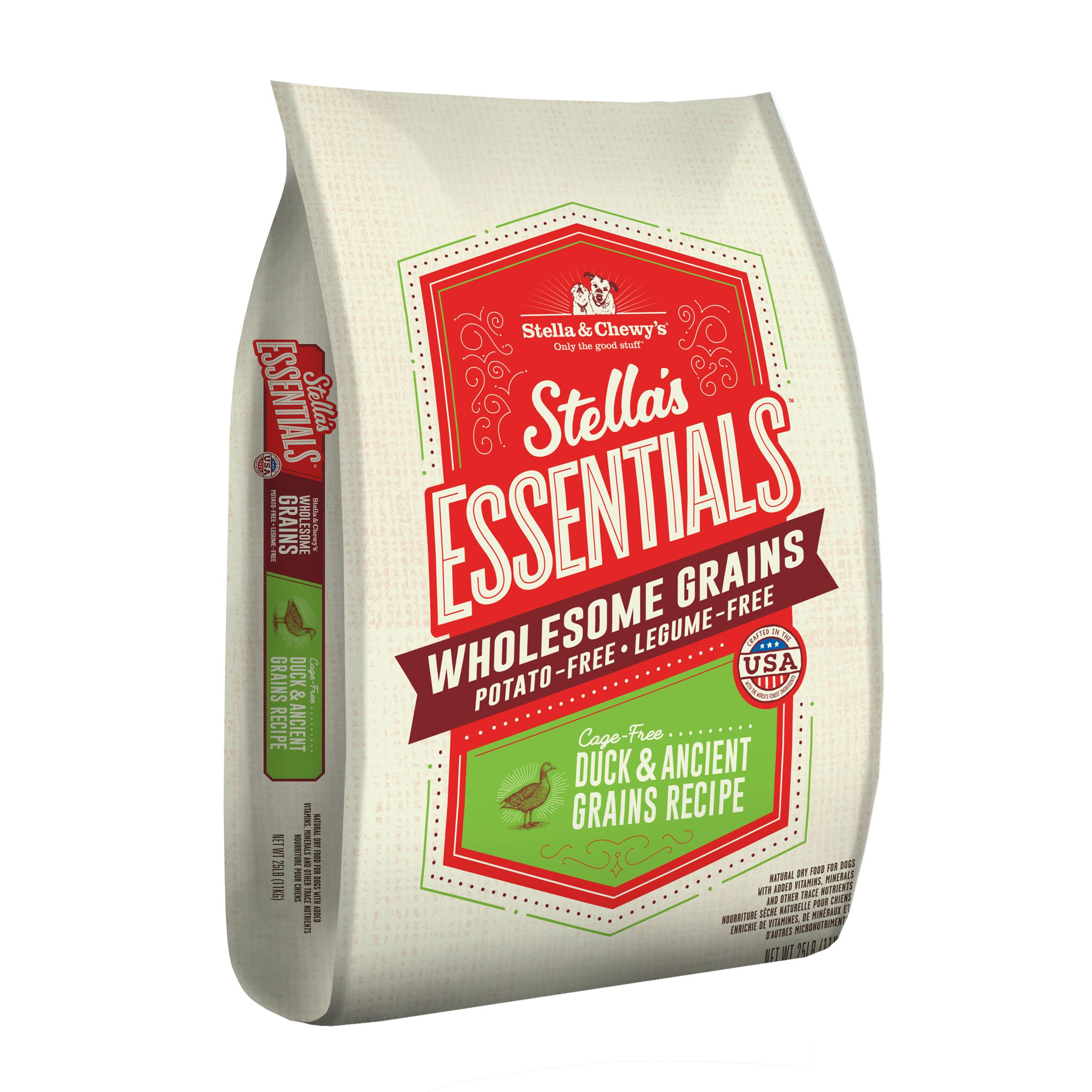 Stella & Chewy's Essentials Wholesome Grains Duck & Ancient Grains Dry Dog Food, 25-lb