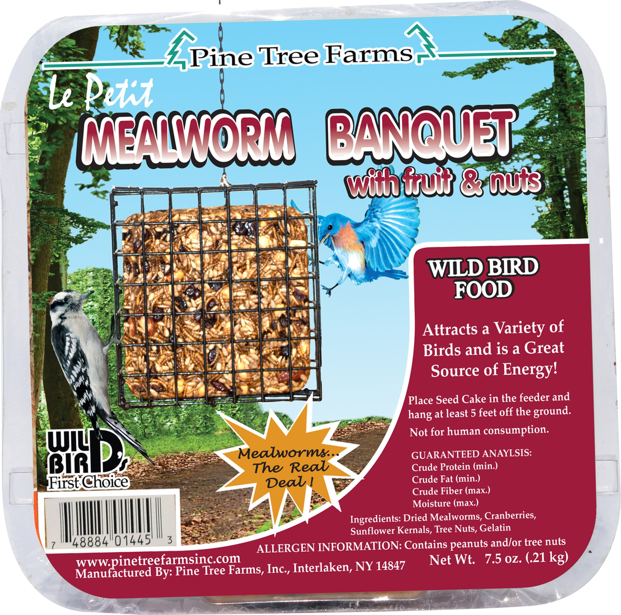 Pine Tree Farms Le Petit Mealworm Banquet Wild Bird Food, 7.5-oz