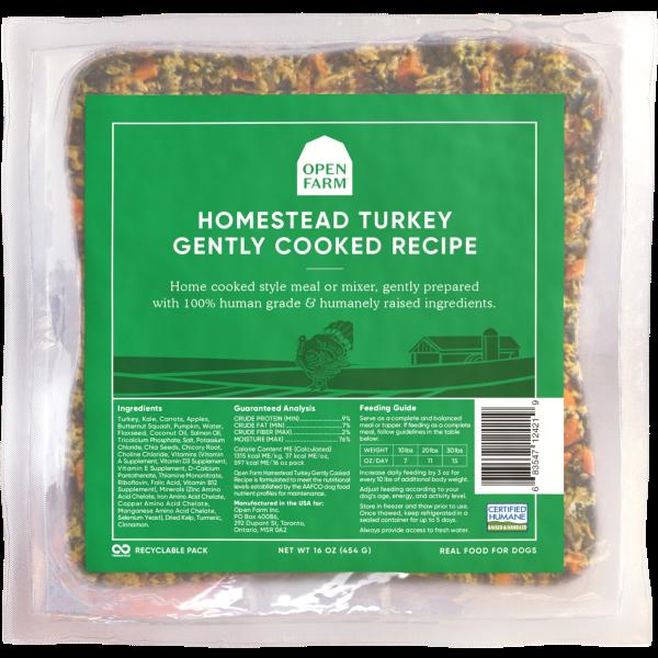 Open Farm Gently Cooked Homestead Turkey Recipe Frozen Dog Food Image