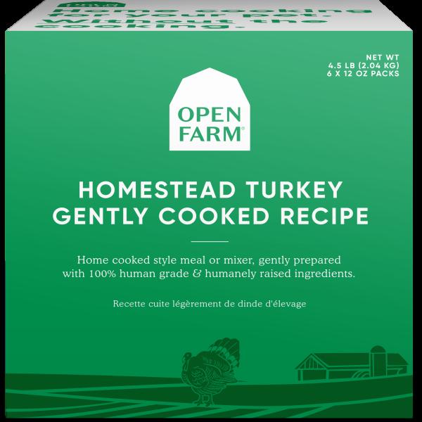Open Farm Gently Cooked Homestead Turkey Recipe Frozen Dog Food, 12-oz, 6-pack, 4.5-lb