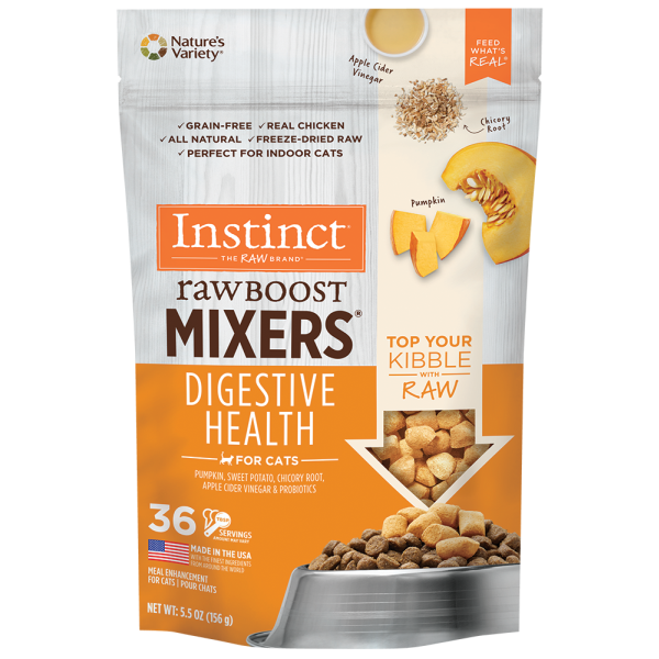 Instinct by Nature's Variety Raw Boost Freeze-Dried Mixers Gut Health Cat Food Topper, 5.5-oz