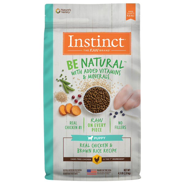 Instinct by Nature's Variety Be Natural Real Chicken & Brown Rice Dry Puppy Food, 4.5-lb