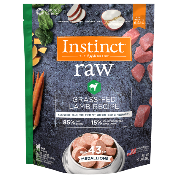 Instinct by Nature's Variety Grass-Fed Lamb Medallions Raw Frozen Dog Food Image