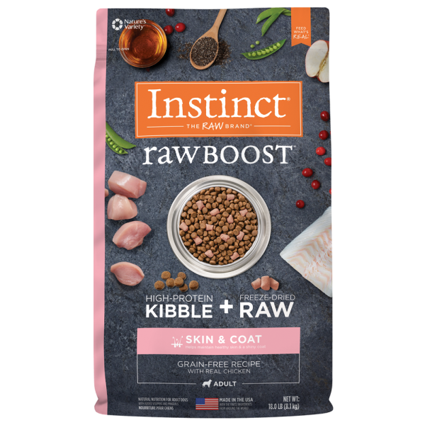 Instinct by Nature's Variety Raw Boost Skin & Coat Cage-Free Chicken Dry Dog Food, 18-lb